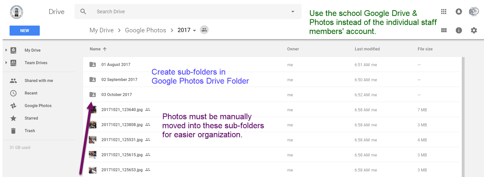 Google Photos Drive Folder