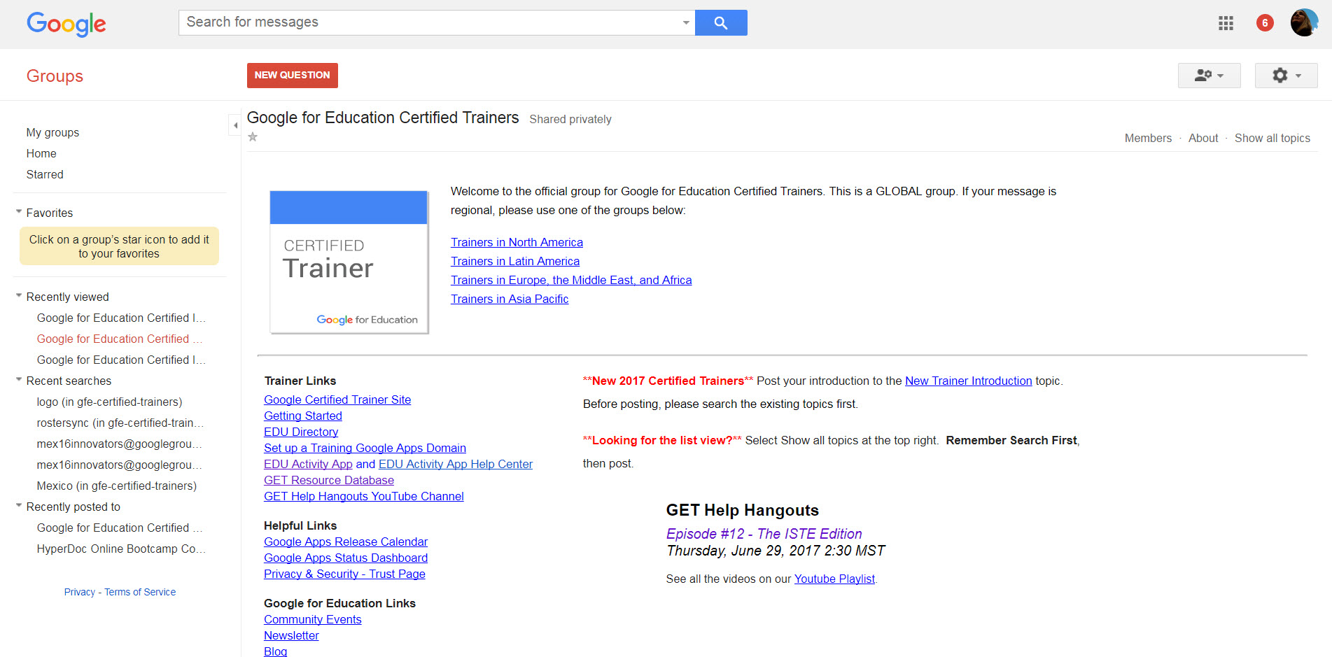 Google Trainer Group
