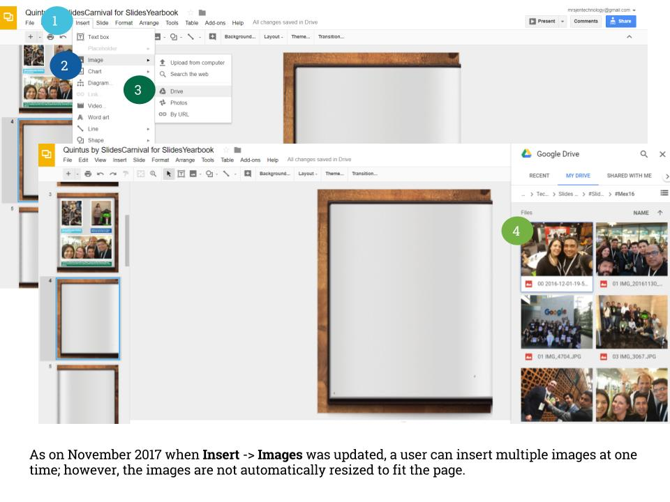 Insert Google Drive Image November 2017 Update