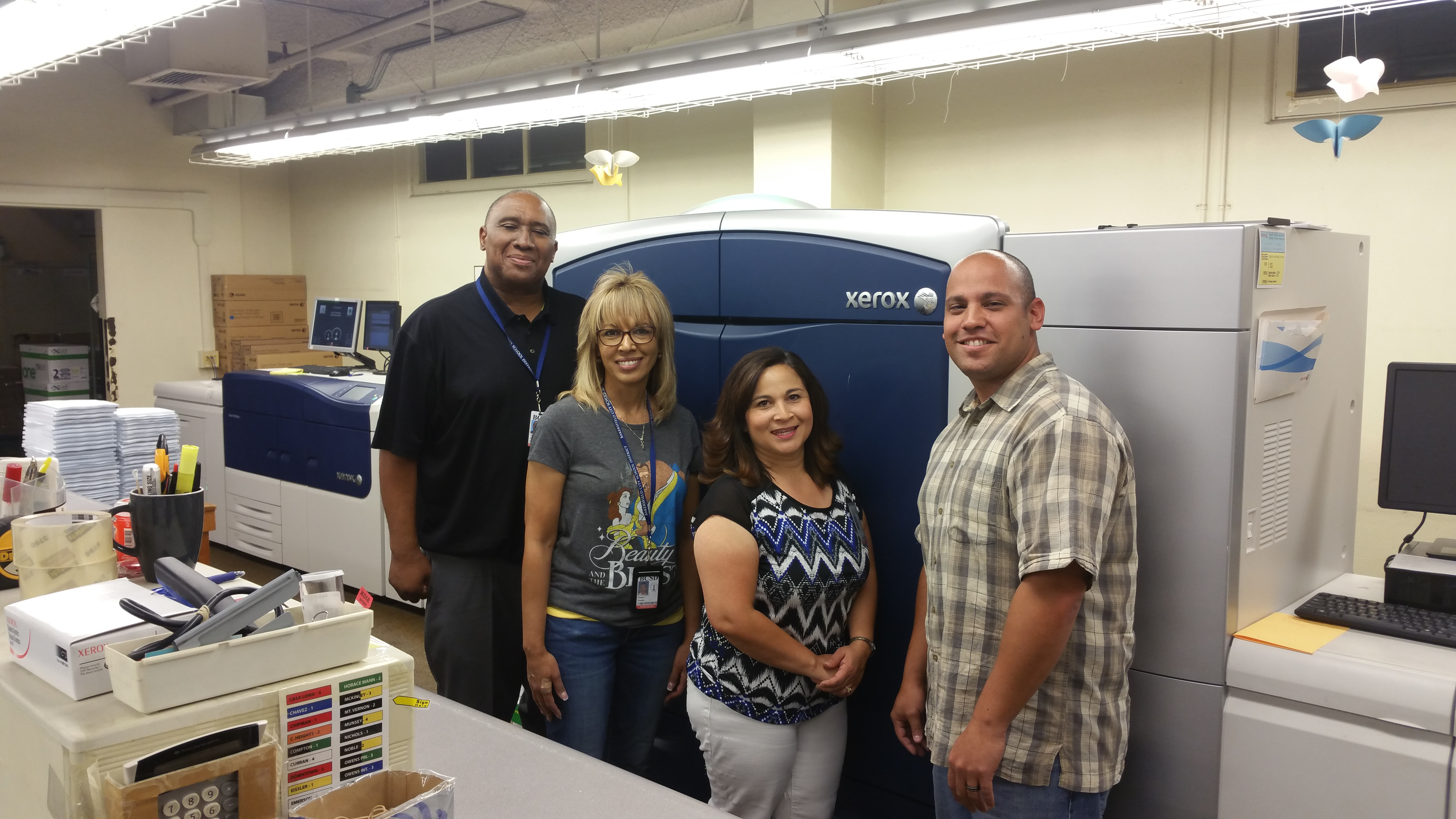Mike Frazier and his team proudly print the yearbooks for Bakersfield City School District.