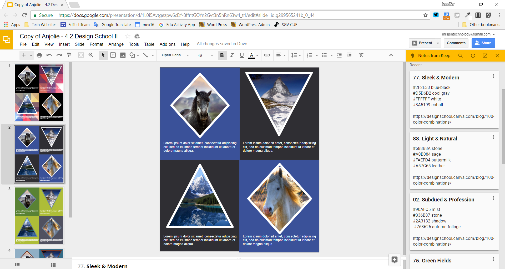 This is an example of storing and using yearbook key information in Google Keep.