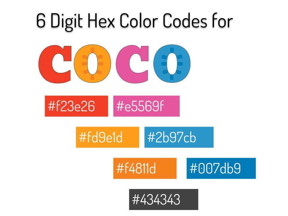 Hex Codes for Coco