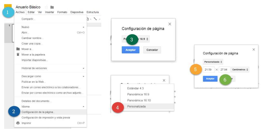 ES Configuración de la página (tamaño)
