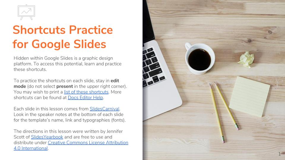 Shortcuts Practice for Google Slides