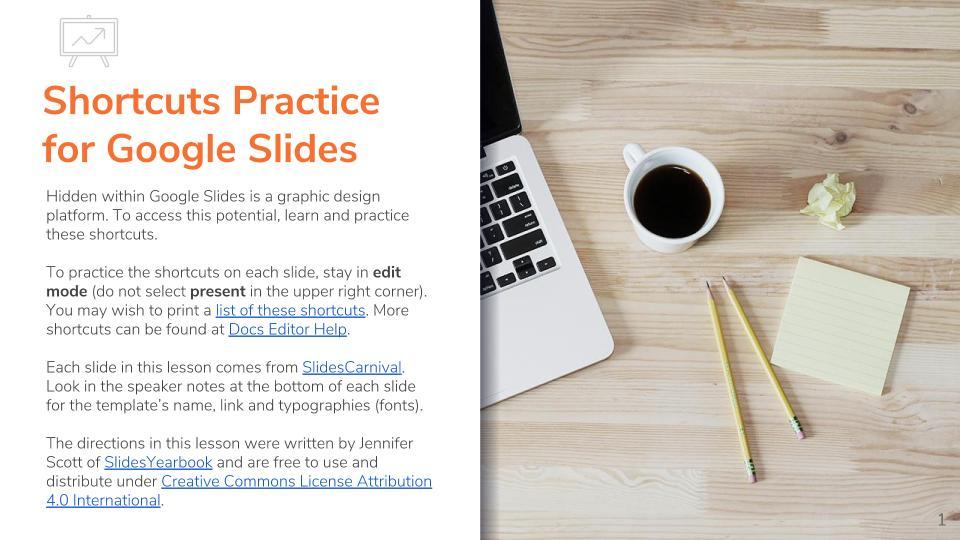Shortcuts Practice for Google Slides