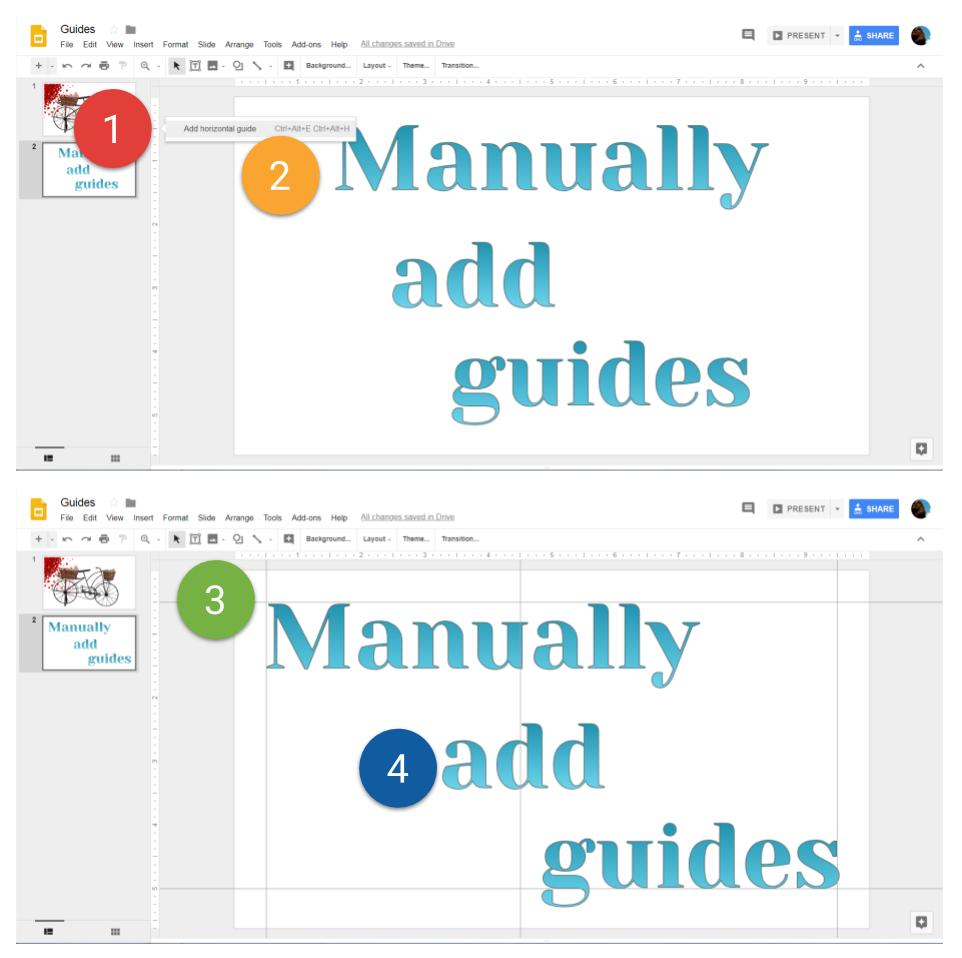 38 Manually add guides
