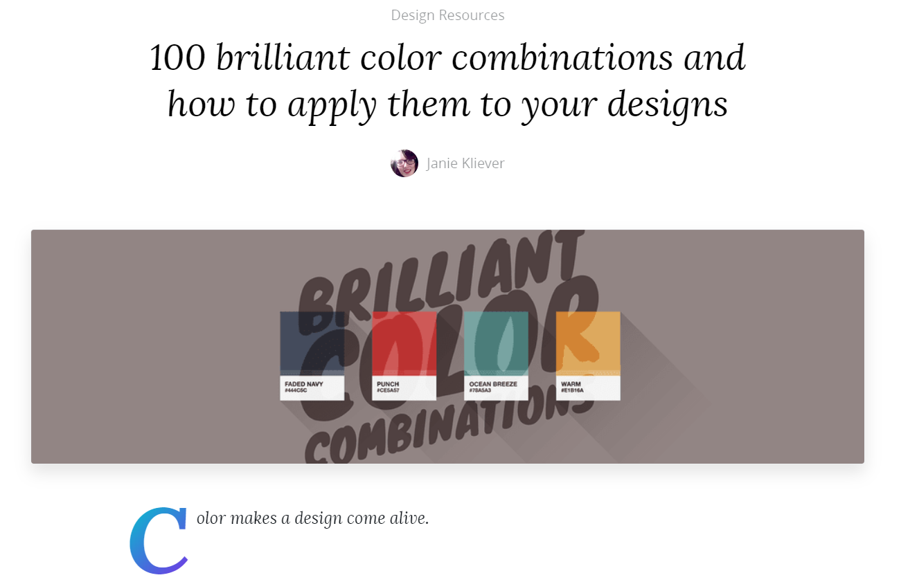 Canva Color Combinations