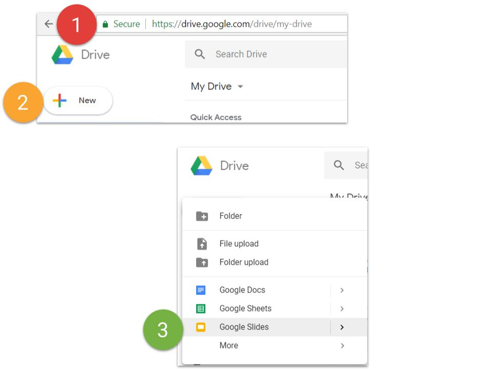 Create Google Slides from Google Drive