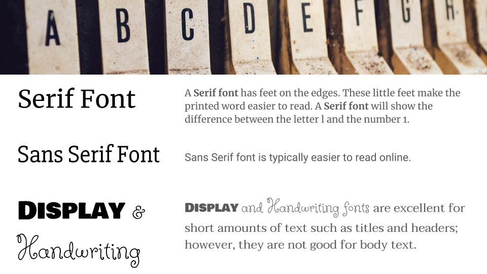 Importance of Font and Color Activity