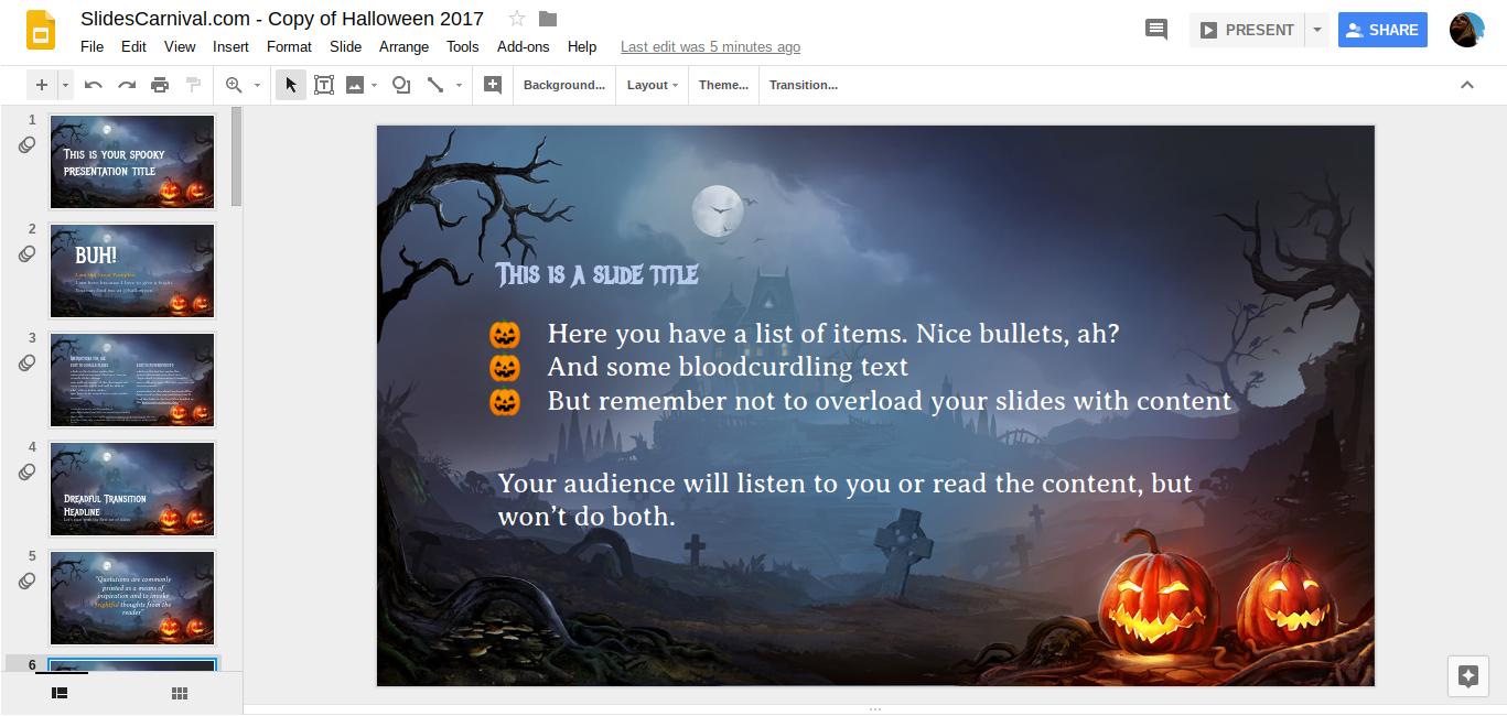 SlidesCarnival - Bulleted Lists