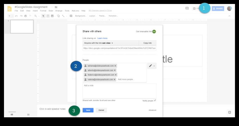 Share Google Slides Assignment