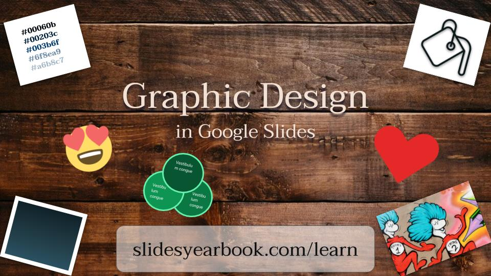 Graphic Design in Google Slides Presentation Title