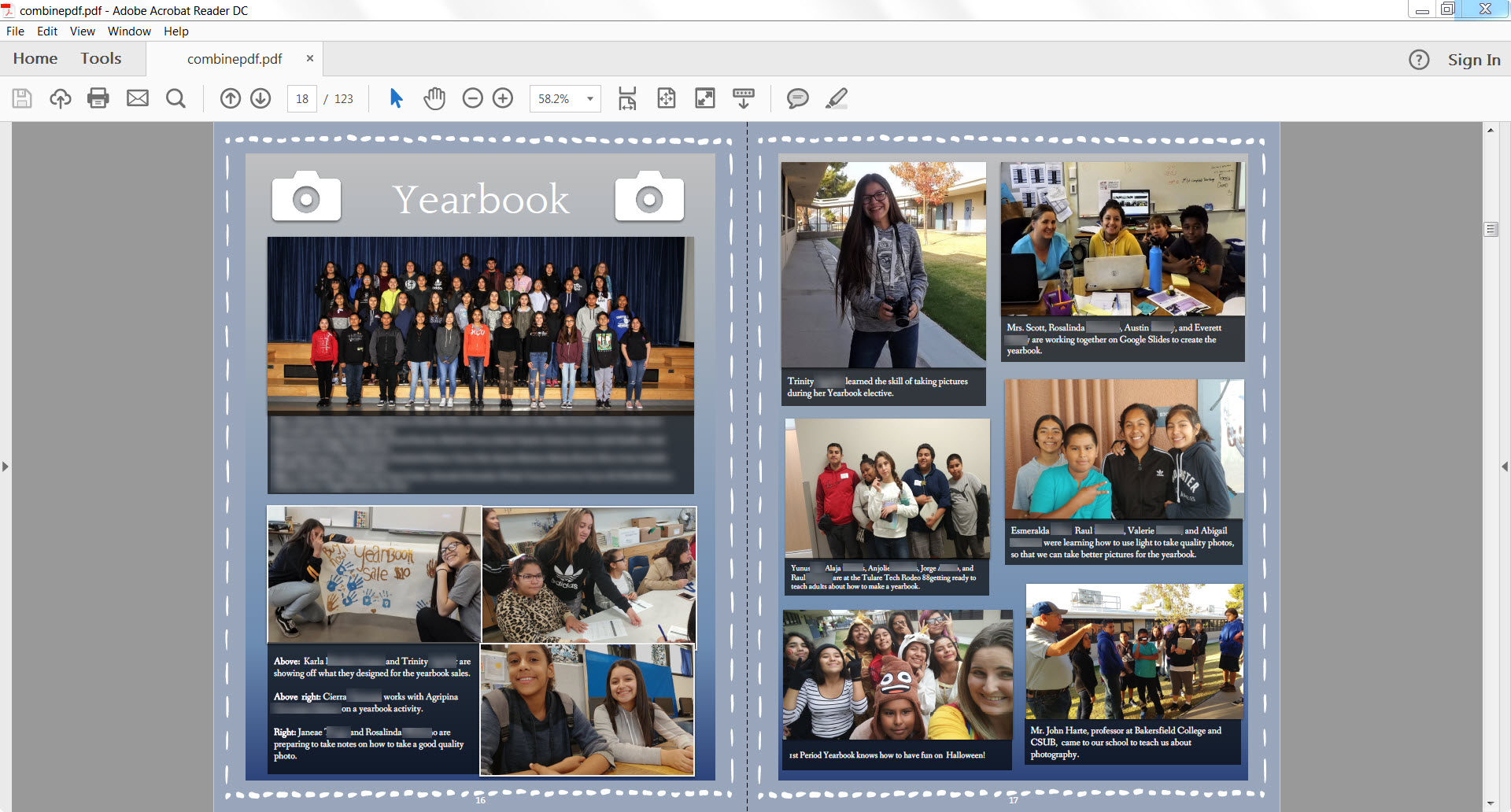 06 Proofread yearbook draft