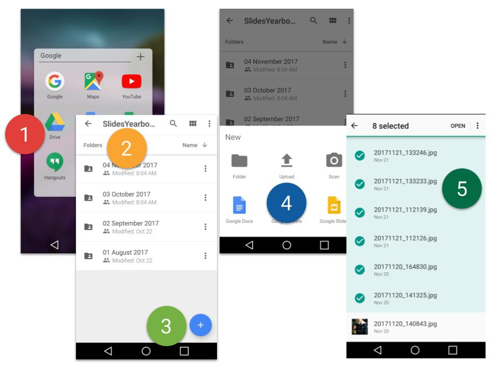 13 Share Photos from Smart phone to Google Drive