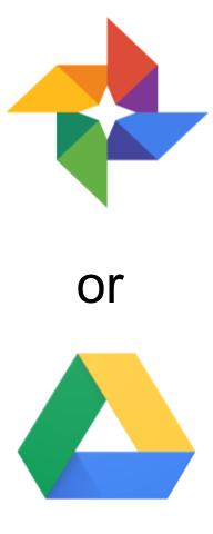 Google Photos or Google Drive long