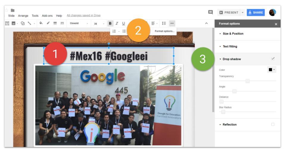 Image Editing Google Slides Drop Shadow
