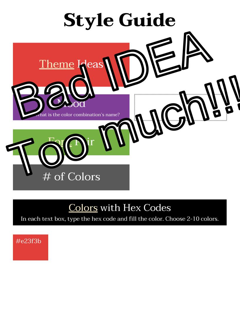 Bad Idea Style Guide