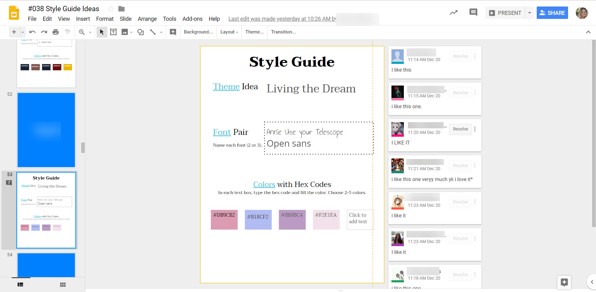 Style Guide Gallery Walk
