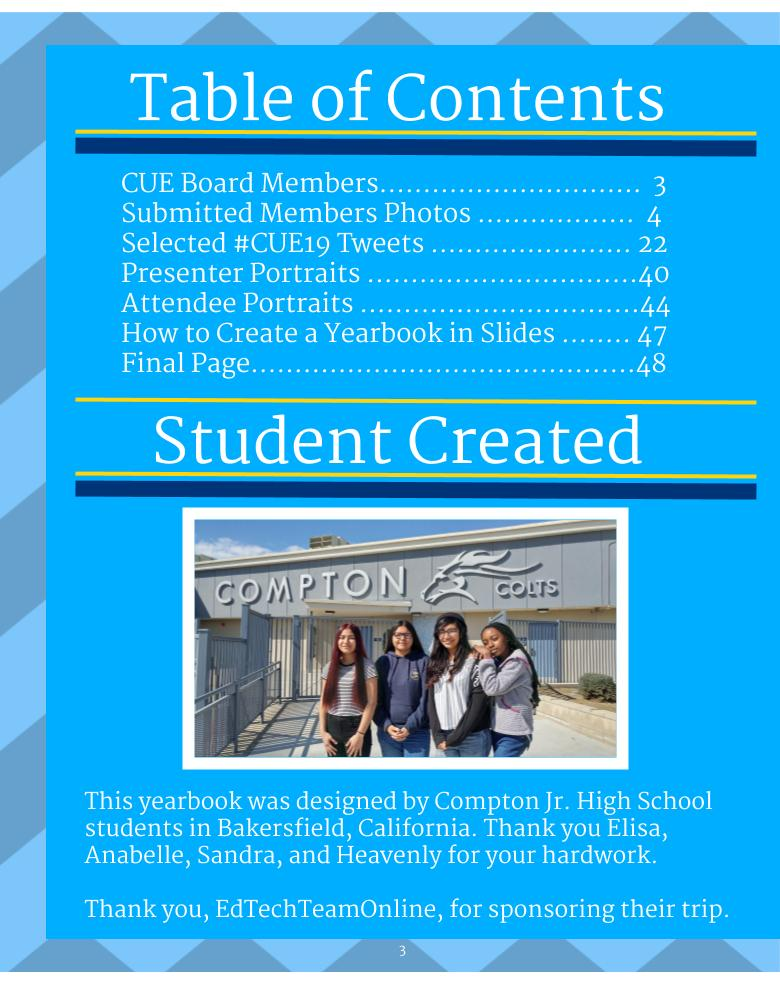 Spring #CUE19 Yearbook 8 x 10