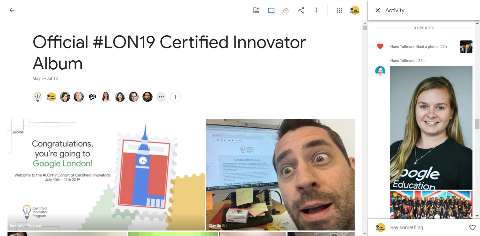 Official Lon19 Google Photos Album