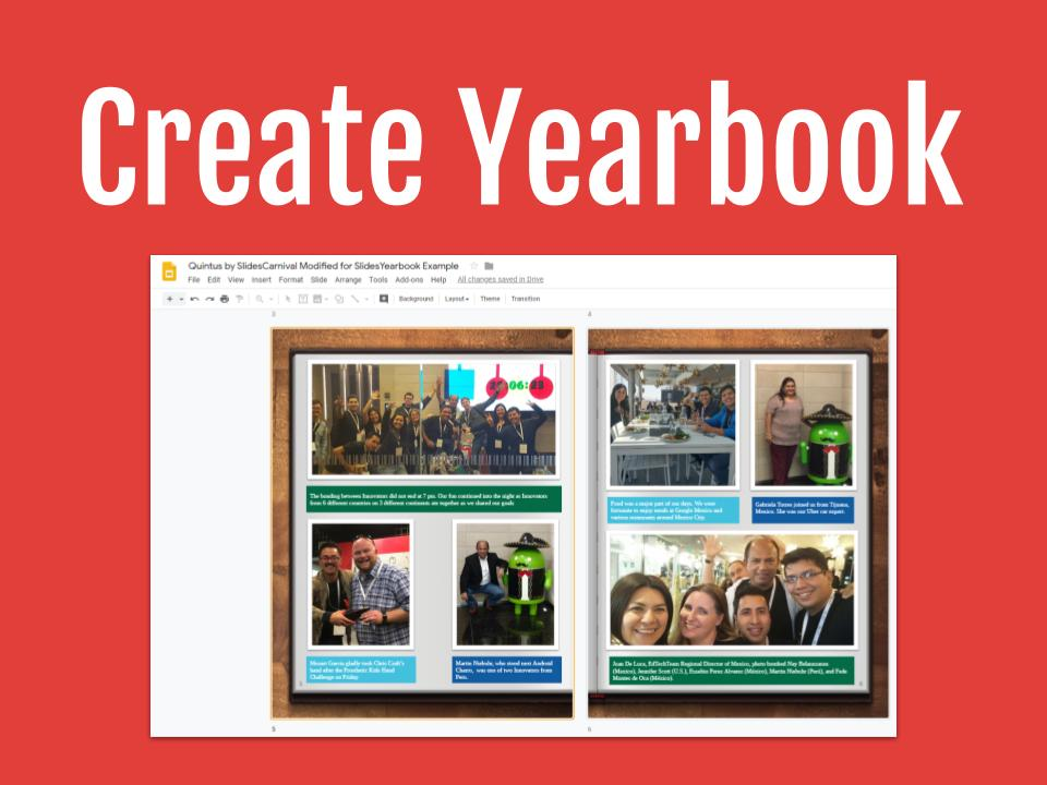 Create Yearbook
