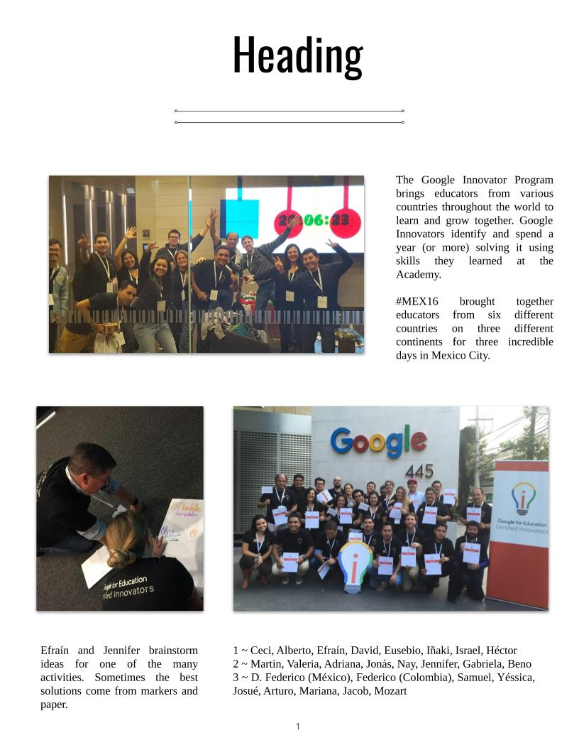 Basic Yearbook Layout Example